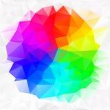 Ojämn polygonbakgrund för vektor med en triangelmodell i färgrik spektrumfärg Royaltyfria Foton