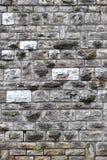 Ojämn rektangulär stentegelstenvägg Arkivbilder