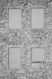 Ojämn stenvägg Arkivfoto