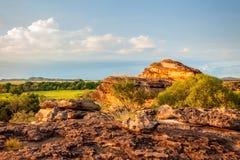 Ojämn terräng på Ubirr vaggar, det nordliga territoriet, Australien Royaltyfri Fotografi