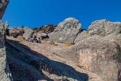 Ojämnt vaggar på Horca del Inca fotografering för bildbyråer