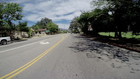 OJAI, CA U.S.A - AUGUST 2015- Driving POV through downtown main drag. stock video footage