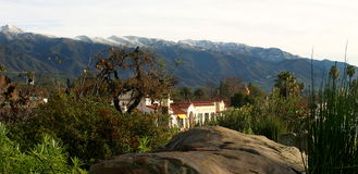 Ojai With Snow (4301). Landscape shot of the Ojai valley with snow on the mountains Royalty Free Stock Photography