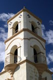 Ojai Tower. The Ojai post office tower with a nice blue sky and clouds Stock Photo
