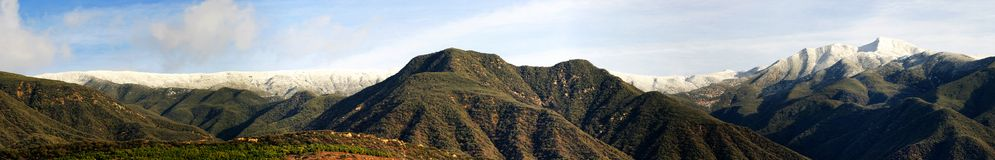 Ojai Valley With Snow (P5). Landscape shot of the Ojai valley with snow on the mountains Royalty Free Stock Photos