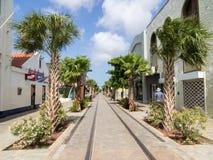 Ojanjestad Aruba een Caraïbisch eiland in de Nederlandse Antillen stock foto's