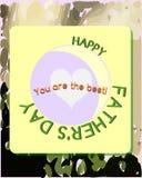 Ojca dnia kartka z pozdrowieniami Obrazy Royalty Free