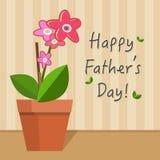 Ojca dnia karty ilustracja Obraz Royalty Free
