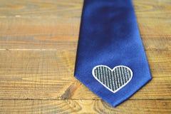 Ojca dnia krawat: Błękitny jedwabniczy krawat Zdjęcia Royalty Free