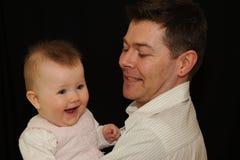 ojca dziecka dziewczyny się uśmiecha Fotografia Royalty Free