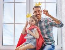 Ojca i córki sztuka Fotografia Royalty Free
