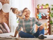 Ojca i córki sztuka fotografia stock