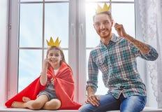 Ojca i córki sztuka zdjęcia stock