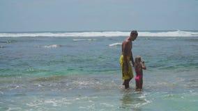 Ojca i córki sztuka na morzu zbiory wideo