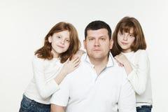 Ojca i czerwieni bliźniacy Obraz Stock