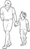 ojca i syna Ilustracji