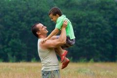 ojca i syna Zdjęcia Royalty Free