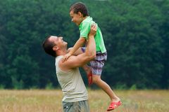ojca i syna Obrazy Royalty Free