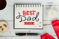 Ojca ` s dnia literowania powitania notatki skład Obrazy Royalty Free