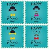 Ojca ` s dnia powitanie karty set Wektorowi Illustrations/ Fotografia Stock
