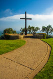 Ojca Serra krzyż przy Grant parkiem w Ventura, Kalifornia Zdjęcia Royalty Free