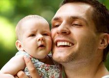 ojciec dziecka Fotografia Royalty Free