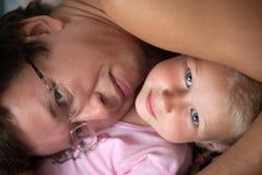 Ojciec i córka Zdjęcie Stock