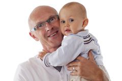 Ojciec i chłopiec Zdjęcie Stock