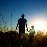 Ojciec i syn Zdjęcia Stock