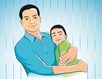 Ojciec i syn Zdjęcia Royalty Free