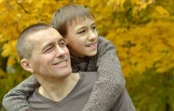 Ojciec i syn Fotografia Stock
