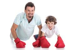 Ojciec i syn Zdjęcie Royalty Free