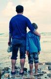 Ojciec i syn Obrazy Stock