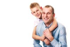 Ojciec i syn Obraz Stock
