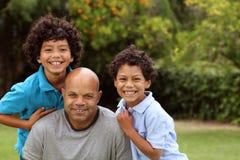 Ojciec i synowie zdjęcie royalty free