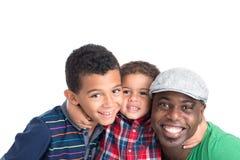 Ojciec i synowie Obrazy Royalty Free