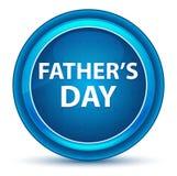 Ojciec, s dnia gałki ocznej Round Błękitny guzik « ilustracja wektor