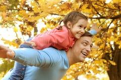 ojciec szczęśliwa córka Fotografia Stock