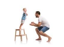 ojciec szczęśliwy jego syn Fotografia Stock
