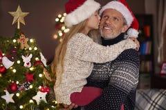 Ojciec z córką zdjęcia royalty free