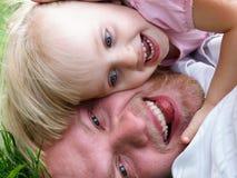 Ojciec z córką obrazy royalty free
