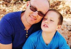 Ojciec z synem Obraz Royalty Free