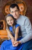 Ojciec z ukochaną córką Fotografia Royalty Free