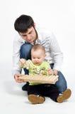 ojcuje jego małego muzycznego sztuka syna target1755_1_ potomstwa obraz stock