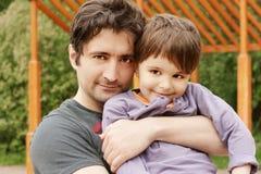 ojcuje syna Zdjęcia Stock