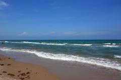 ojcze wyspy na plaży fotografia stock