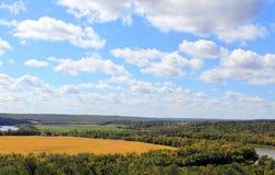 Ojeada de la cosecha temprana del río de Assiniboine imagen de archivo