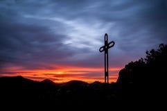 Ojen Solnedgång på Cruz de Juanar Royaltyfri Foto