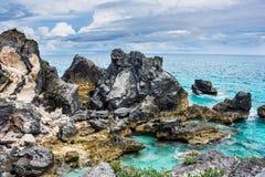 Ojämn kustlinje Bermuda Royaltyfria Bilder