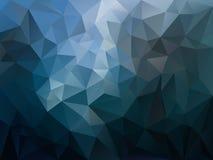 Ojämn polygonbakgrund för vektor med en triangelmodell i mörker - blå spektrumfärg Royaltyfri Foto